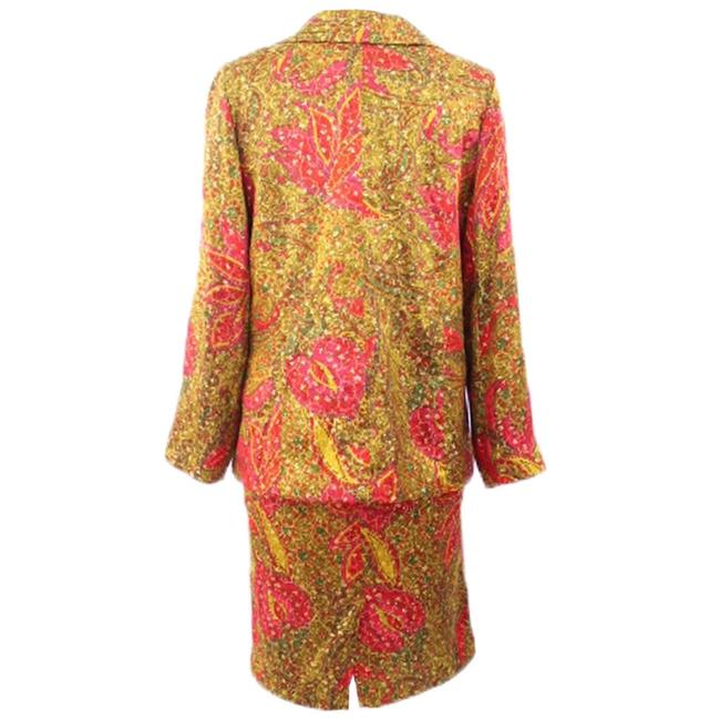 Unbranded Woman Unbranded Woman Multicolor Metallic Evening Printed Skirt-suit
