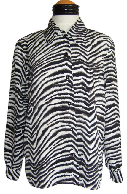 Preload https://item3.tradesy.com/images/notations-zebra-top-black-and-white-animal-print-3102532-0-0.jpg?width=400&height=650