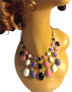 Other Multi Color Resin Metal Pendant Bib Collar Necklace 05249