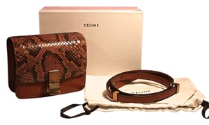 Céline Box Small Lambskin Snake Cross Body Bag