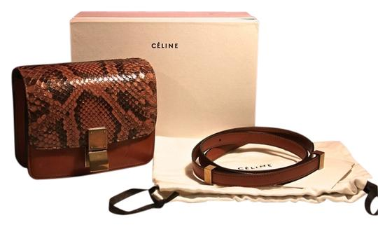 Céline Small Lambskin Snake Skin Python Cross Body Bag