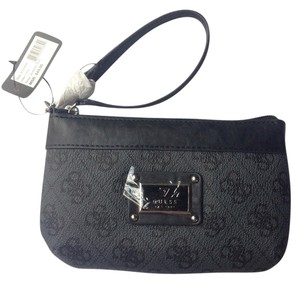 Guess Wristlet in Black And Grey