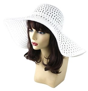 FASHIONISTA Chic White Beach Sun Cruise Summer Large Floppy Dressy Hat Cap