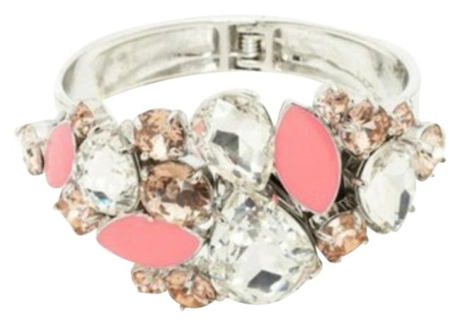 Kate Spade Multicolor New York Floral Encrusted Hinge Bangle Bracelet Kate Spade Multicolor New York Floral Encrusted Hinge Bangle Bracelet Image 1