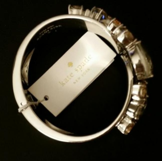 Kate Spade Multicolor New York Floral Encrusted Hinge Bangle Bracelet Kate Spade Multicolor New York Floral Encrusted Hinge Bangle Bracelet Image 3