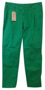 Lands' End Chinos Casual Preppy Khaki/Chino Pants Green