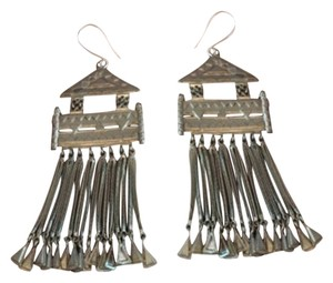 A Peace Treaty Brass Temple Earrings