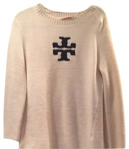 Tory Burch Chunky Knit With Logo Sweater