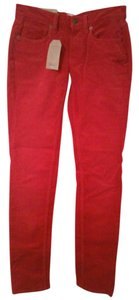 Lands' End Cords Corduroys Straight Pants Rich Red