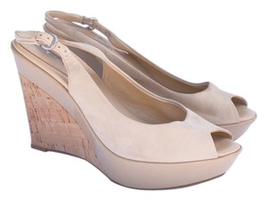 Via Spiga Supple Nude Wedges