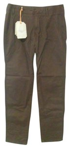 Lands' End Lnads' Chinos Cotton Khaki/Chino Pants Raisin (a reddish brown)