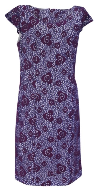 Item - Purple and White Lace In Like Condition Mid-length Casual Maxi Dress Size 6 (S)