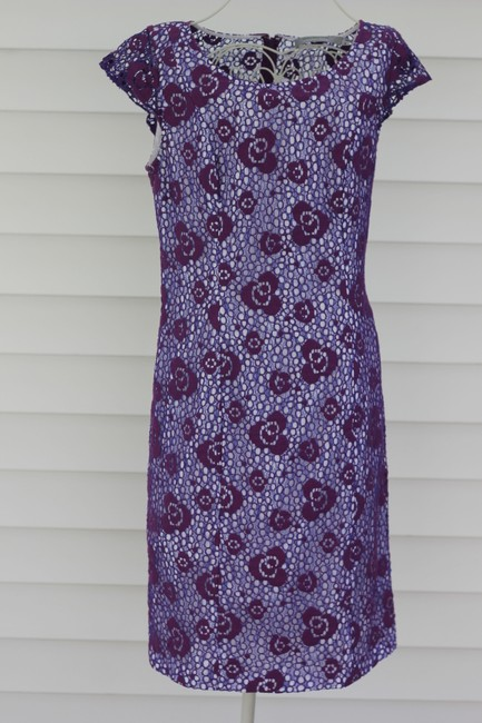Purple and White Lace Maxi Dress by Marc New York