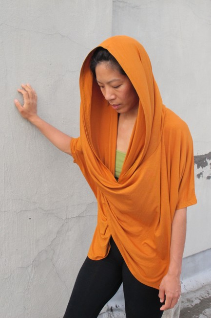 Other short dress Tangerine Tunic Convertible Hood Summer on Tradesy