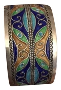 Marrakesh 925 Silver And Enamel Cuff