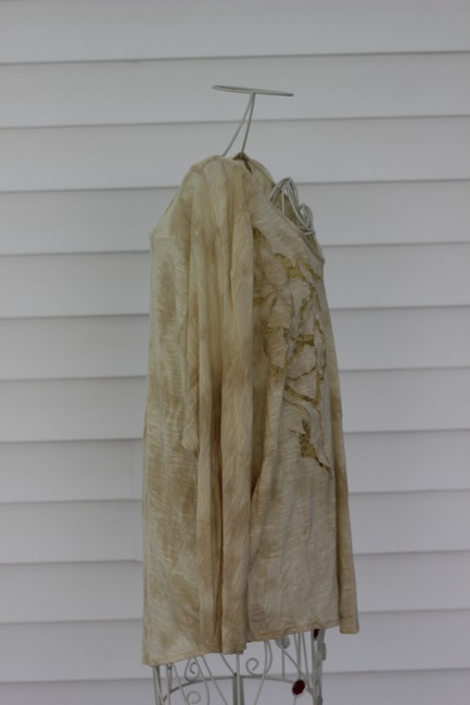 Free People Top Ivory and Yellow