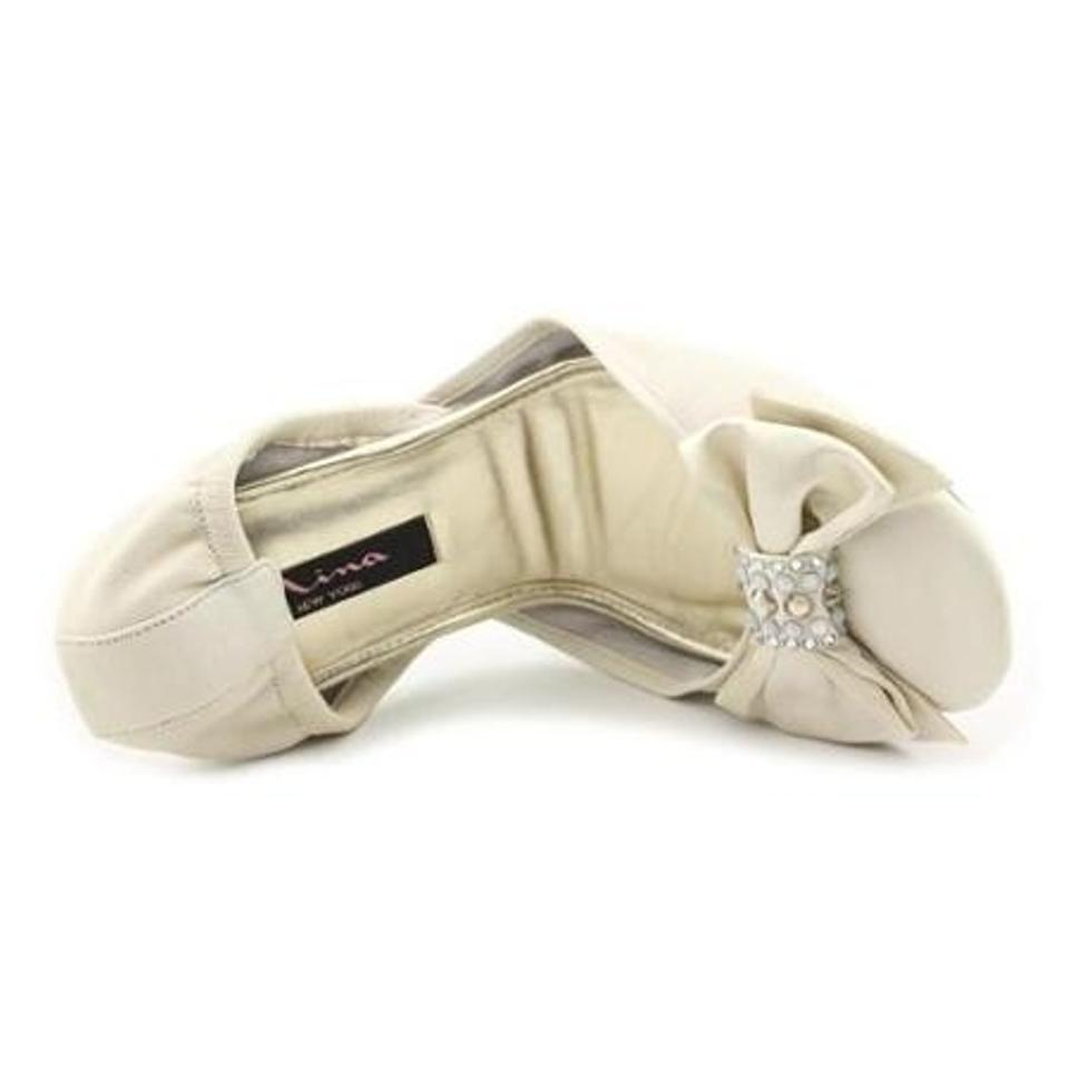 Comfy Shoes Ballet Rhinestone Formal Bow Norway Up Fold Flats Nina Toe Ivory tBwdB0