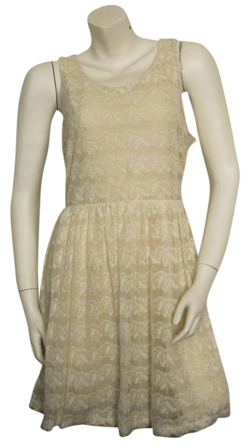 H&M Boho Bohemian Preppy Cocktail Party Formal Lace Mesh Sheer Fully Lined Spring Summer Fall Hippy Hippie Date Night Dress