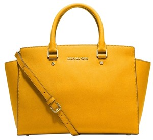 MICHAEL Michael Kors Large Satchel in Sun Yellow