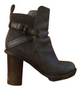 Acne Leather Navy Blue Boots