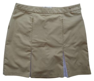 GU Brand Skort Tan with White Trim