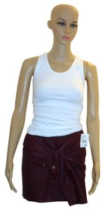 Jean-Paul Gaultier Leather Mini Mini Skirt Burgundy/Wine