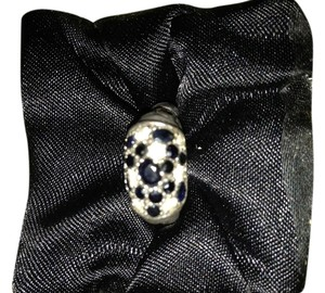 John Hardy John Hardy Ring - Sterling Silver/Gold with White & Black Sapphires Sz 6