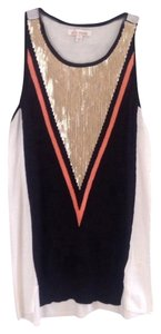 Ella Moss Top Black, Cream, Coral, Gold
