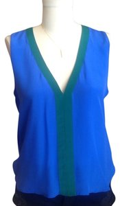 Olive Olivia Top Royal Blue & Kelly Green