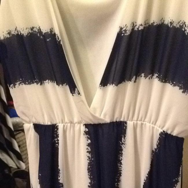 Navy blue And White Maxi Dress by Charming Charlie