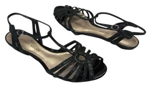 Antonio Melani Great Condition Leather BLACK Flats