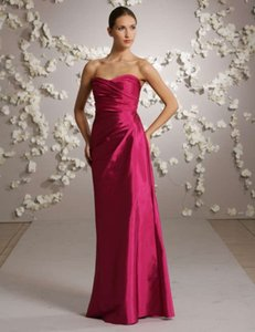 Jim Hjelm Occasions Raspberry Silk Taffeta 5030 Formal Bridesmaid/Mob Dress Size 22 (Plus 2x)