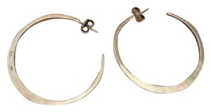 INTERMIX Large Hammered Hoop Earrings