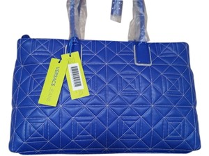 Versace Stiching Tote in Blue