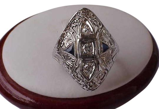 Preload https://img-static.tradesy.com/item/310619/18k-white-gold-filigree-with-diamond-and-sapphires-ring-0-0-540-540.jpg