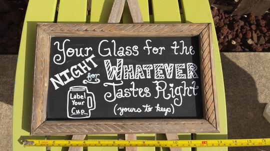 Mason Jar Mug Favor Sign