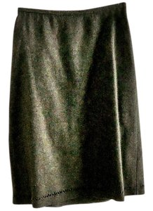 Gap Wool Lined Laser-cut Skirt grey