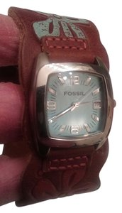 Fossil ladies fossil watch with leather cuff band