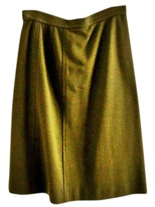 dorce Vintage Wool Embellished Skirt dark-khaki