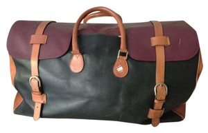 Giorgio Armani Oxblood/Camel/Hunter Green Travel Bag