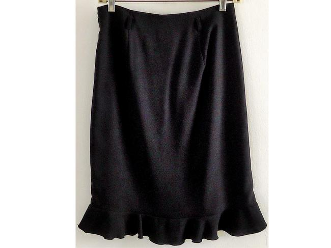 XOXO Ruffle Skirt black
