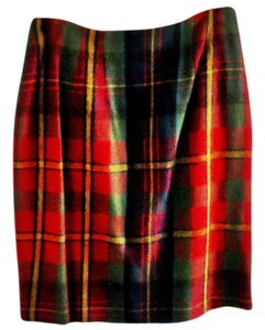 Talbots Wool Lined Adjustable Skirt tartan