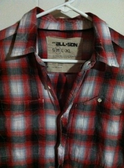 Urban Outfitters Button Down Shirt Red/Black