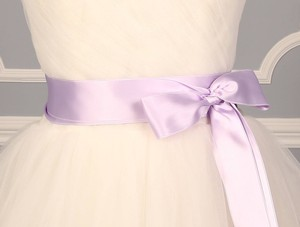Orchid Purple Ribbon Sash 2