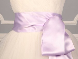 Orchid Purple Ribbon Sash 4