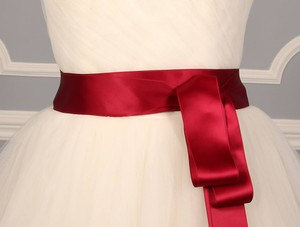 Wine Red Ribbon Sash 2