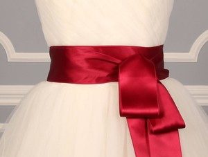 Wine Red Ribbon Sash 2 3/4