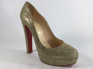 Christian Louboutin Multicolor Glitter Platforms