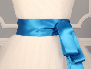 Marine Blue Ribbon Sash 2 3/4