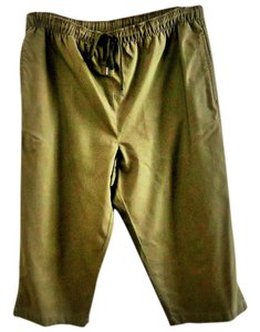 Karen Scott Cotton Adjustable Capris khaki